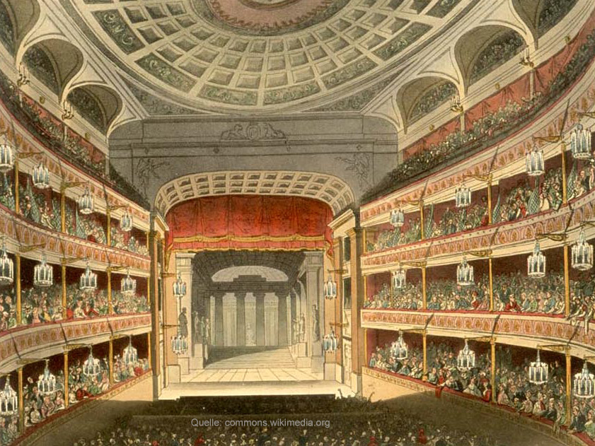 Das Royal Opera House 1810